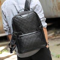 Zaino Design di lusso in tessuto uomo moda business business borsa per laptop da uomo da viaggio ad alta capacità backbag borsa in pelle PU maschile