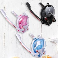 Diving Masks Full Dry Snorkeling Anti-Fog Face Cover Double Tube Swimming Protector Underwater Mask For Snorkel Set