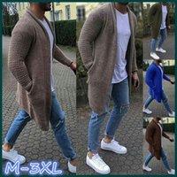 2021 Men Sweater Coats Long Sleeve Plus Size Cardigan Thicken Sweater Jacket