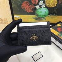 حار أعلى أفضل جودة الأسود genuinel الجلود إمرأة محفظة مع مربع فاخر مصممي محفظة رجل محفظة محفظة حامل بطاقة الائتمان 523665