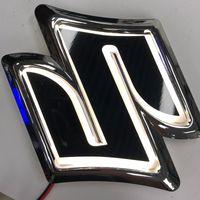 4D Car Logo LED Emblem Badge Light Rear Trunk Grille Decoration for Suzuki SWIFT Alto Wagon R Jimny Car Styling Accessories