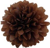 29 couleurs disponibles !! Guirlande Pom Pom pompruntée en papier pour anniversaire 16 pouces (40cm) Sac de fleurs de papier tissu fabriqué à la main