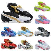 Mercurial VII 13 Elite FG CR7 Dream Speed XIII Safari Ronaldo Neymar NJR الوردي 360 كرة القدم المرابط رجالي أحذية كرة القدم حجم US6.5-11