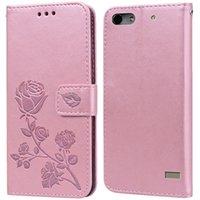 Huawei 명예를위한 럭셔리 가죽 플립 북 케이스 4C G Play 미니 C8818 ChC-U01 4C Pro Rose Flower Wallet 스탠드 케이스 전화 커버 가방