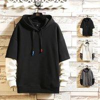 2021 Nouveau Colorblock Sweats à Hoodies Streetwear Casual Hoodie Vêtements de mode Gahk