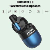J28 TWS Wireless Ohrhörer Bluetooth 5.0 Kopfhörer mit Ladekoffer in Ohr digitales Display Headset Dropship + Retail Box