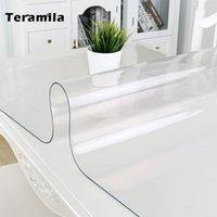 Teramila PVC Tavolo trasparente Tavolo impermeabile TABLECCOLA A TABLECOTH OLIME 1.0mm / 1.5mm Spesso morbido tappetino da cucina tavola da pranzo