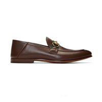 النساء شقة عارضة الأحذية أصيلة جلد البقر المعادن مشبك السيدات أحذية جلدية البغال princetown الرجال تدوس كسول اللباس أحذية كبيرة الحجم 35-46