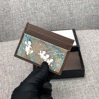 Designer di lusso Designer Cardholder Classic Womens Casual New 2021 Porta carte in pelle di vacchetta in pelle di vacchetta Ultra Slim Coin Borses Mens Women Portafogli W10 * H7CM