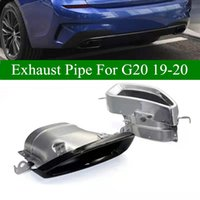Pair Muffler Exhaust Pipe For BMW 3 Series G20 G28 325i 2019-2020 Stainless Steel Car Rear Tail Tips