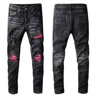Chegadas Mens Jeans Luxuryser Designer Slim-Leg Jean Pattren Homens Casuais Calças de Alta Qualidade Altos Rua Motociclista Luxyrys Denim Pant Tamanho W29-W40