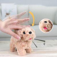 Детские электронные плюшевые домашние животные игрушки симуляция плюшевые робот собака ходьба интерактивное встряхнуть хвост игрушечная собака дети дети дня рождения подарок