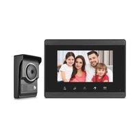 Téléphones de porte vidéo Système d'interphone câblé de 7 pouces TFT Color Monitor Moniteur électronique Doorbell Caméra Déverrouiller Handfree Smart Accueil