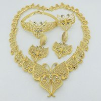 Earrings & Necklace Luxury African Jewelry Sets Gold For Women Dubai 18k Bridal Wedding Party Gifts