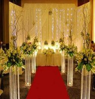 2021 120cm 48inch Hauteur Way Way Way Way Way Stand Stage Stage Stage Arylic Crystal Colonne Pilier pour la décoration de fête de mariage