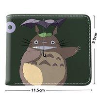 日本の漫画私の隣人トトロの財布の短い財布の聖霊降臨祭のコインポケットクレジットカードホルダー
