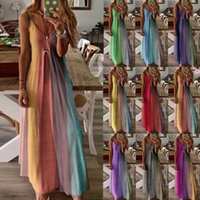 Casual Dresses Summer Dress Sleeveless Positioning print long skirt camisole vest Printed tshirt woman's clothing Plus