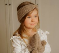 INS Girls knitted hairbands bohemia crochet tie headbands autumn winter kids warm hair bands Headwrap baby hairs accessories Q2100