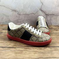 Top Quality Vermelho Bottom Moda Mulher Homem Casual Sapatos Bee Tiger Snake Vestido Bordado Branco Designer Sapatos