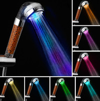 أدى التحكم في درجة الحرارة ارتفاع ضغط هطول الأمطار دش سبا استشعار درجة الحرارة 7 لون ضوء توفير المياه تصفية المعدنية دش هدية