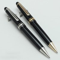 Modell 145 Schwarzer Harz-Kugelschreiber mit goldenem Trim-Kugel-Twist-System mit großer Größe dickerer Stift für Geschäftsstift