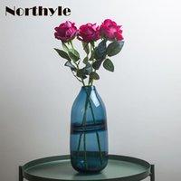 المزهريات موضوع المياه الزجاج إناء الحديثة زهرة المنزل الديكور تررم زجاجة الزفاف الطابق