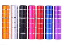 7 cores 10 ml 5ml mini linha colorida pulverizador de viagens frascos de perfume recarregável transporte vazio atomizador