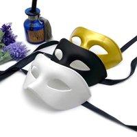 Man Gentleman Knappe Maskerade Oogmasker Prom Maskers Halloween Masquerades Party Kostuum Bruiloft Decoratie Feestelijke Props FWD8581