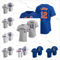 12 Francisco Lindor 2021 New Custom Jacob Degrad Pete Alonso Mets Mike Piazza Dwight Gooden Keith Hernandez Darryl Strawberry York Jersey