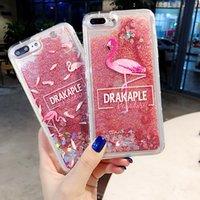 Liquid Quicksand Glitter Case para OPPO A37 A59 A57 A71 73 A83 A7 A3 A79 A5 A3S A77 Peach Blossom Flamingo Funda