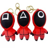 DHL 2021 Fidget Squid game squid game plush toy pendant doll key chain bag Pendant