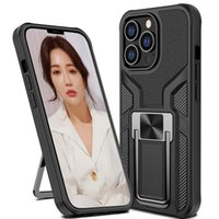 Ring Armor Cases for IPhone 13 12 11 Pro Max Mini XS X Heavy Duty Protective Rugged Shock-Absorbing Magnetic Car With Stand Cover