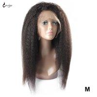 레이스 가발 UWIGS 13x4 프론트 인간의 머리카락 Yaki 여성용 브라질 변태 직선 가발 정면 레미