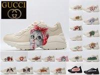 Gucci Rhyton series old shoes  Scarpe da ginnastica da donna Rhyton Scarpe da uomo Shoe di alta qualità Piattaforma in vera pelle Sneaker Trainer Stampa Vecchio Papà Scarpe Big