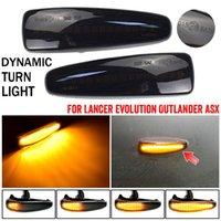 Emergency Lights LED Dynamic Turn Signal Side Marker Sequential Light For Mitsubishi Lancer Evolution Evo X Outlander Sport RVR ASX Mirage 2