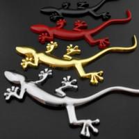 3d المعادن جيكو شارة شعار ملصقات ل أودي a1 a3 s3 8p 8 فولت a4 b7 b8 a5 a6 c6 c7 q2 q3 q5 sline quattro sportback سيارة التصميم