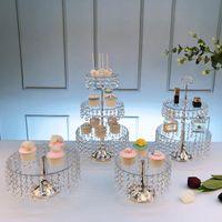 Outros Acrílicos de Bakeware Multicamada Bolo Placa de Cristal de Cristal Decoração Da Tabela Decoração Clear Cupcake