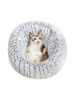 Cat Beds & Furniture Pet Bed Cotton Nest Comfortable House With Adjustable Drawstring For Autumn Winter Warm Mat Small Dog Puppy