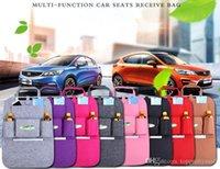 7 cores novo auto carro assento organizador portador multi-bolso saco de armazenamento de viagem gancho de volta caixa organizando