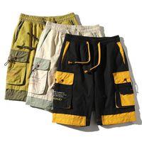 Giappone stile moda uomo hip hop streetwear pantaloncini cargo 2021 estate casual tasca classica cotone marchio pantaloni corti