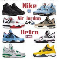 Avec boîte air rétro jordan 4s chaussures de basketball 4 hommes entraîneurs Jumpman 1S High Black Gold 11S 25ème anniversaire 12S Université Bleu 3S Feu 3s Red 5s Quels Sports Sports