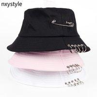 Stingy Brim 모자 형태의 색상 철 핀 링 링 인격 emmer 모자 모자 유니섹스 여성 남성 CATO 피셔 캡 공장 판매 직접 판매 0726