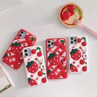 Çilek Meyve Moda Sevimli Bulanık Kürklü Kürk Leopar Peluş Desen Yumuşak TPU Kadife Hayvan Çita Baskı Kılıf Iphone 11 Pro Max