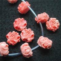 15pcs intaglio perline di fiori rosa colori taglia 20mm materiale di argilla per la collana di moda femminile disegni gioielli ritrovamento accessorio