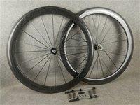 3k glänzend 700c 50mm Carlower Carbon Rennrad Räder Bicycle Rollset mit Novatec A271 Hubs für Ihre Auswahl