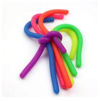Fidget Abreact Decompression Corda Brinquedo Flexível Colagem Flexível Cordas de Noodle TPR Hyperflex Stripy Stripy Neon Slings Stress Ferramentas de Ferramentas GWC6722