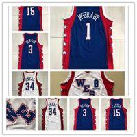 Vintage cousu Trachage 2004 Star Tracy 1 McGrady Vince 15 Carter Mitchell Ness Hardwoods Allen 3 Iverson Swingman Basketball Jerseys