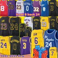 Los Angeles 23 Lebron 6 James Bryant Jersey Basketbol Anthony 3 Davis Russell 0 Westbrook Carmelo 7 Anthony Alex 4 Caruso Horton-Tucker Erkekler Mamba 8 24 Aşağı Merion