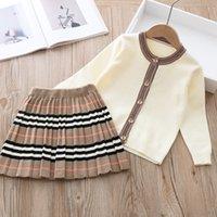 Varış Kızlar Moda Örme 2 Parça Setleri Kazak Ceket Etek Çocuk Kız Butik Kıyafetler Bebek Kız Kış Giysileri 493 Y2