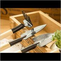 3Pcs Set Mini Garden Gardener Tools, Small Shovel Rake Spade, Mini Wood Handle Metal Head Kids Plant Tool Hinng 5Mwnw